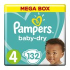 Pampers Active Baby Nappies Maxi Mega Pack Size 4 132s