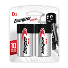 Energizer Max D Batteries 2 Pack