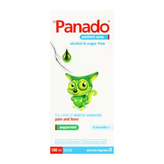 Panado Alcohol & Sugar Free Paediatric Syrup 100 Ml