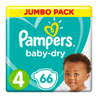 Pampers Baby-Dry Size 4 Jumbo Pack, 66 Nappies