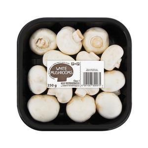 PnP White Mushrooms 250g