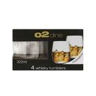 O2 Dine Whiskey Glass 322ml 4 Pack