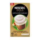 Nescafe Gold Hazelnut Cappuccino Sachets 10s