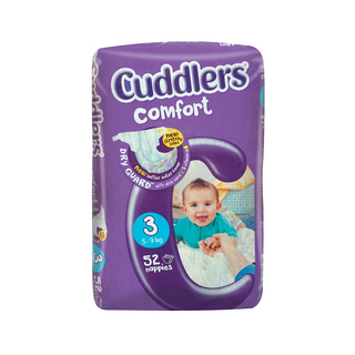 Cuddlers Comfort Diapers Size 3 5-9kg 52s