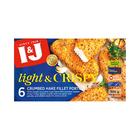 I&J Light & Crispy Garlic and Parsley Hake 500g