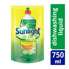 Sunlight Lemon 100 Dishwashing Liquid Pouch 750ml x 9