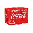 Coca-Cola Can 200ml x 6