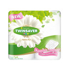 Twinsaver 2 Ply White Luxury Toilet Paper 4ea