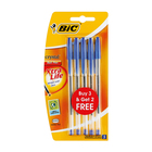BIC Crystal Medium 3 + 2 Blue Pens