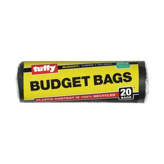 Tuffy Budget Refuse Bags Black 20s 50mm x 950mm x 25