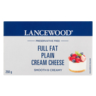 Lancewood Full Fat Plain Cream Cheese 250g