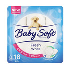 Baby Soft 2 Ply Toilet Paper White 18s
