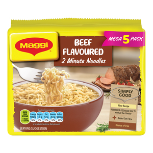 Maggi 2-Minute Noodles Beef Flavour 73g 5s