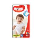 Huggies Dry Comfort Jumbo Size 4+ 60ea  X 2