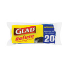 Glad Black Refuse Bags 20s