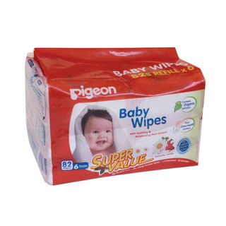 Pigeon Baby Wipes 82 Refill 6ea