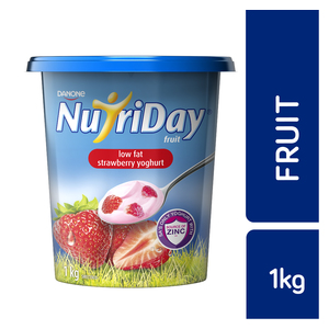 Danone Nutriday Low Fat Strawberry Fruit Yoghurt 1kg