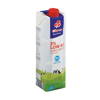Clover UHT Long Life 2% Low Fat Milk x 6