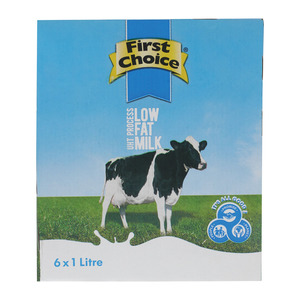 First Choice Long Life 2% Low Fat Milk 1l x 6