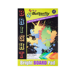 Butterfly A4 Pastel Board Pad 20s
