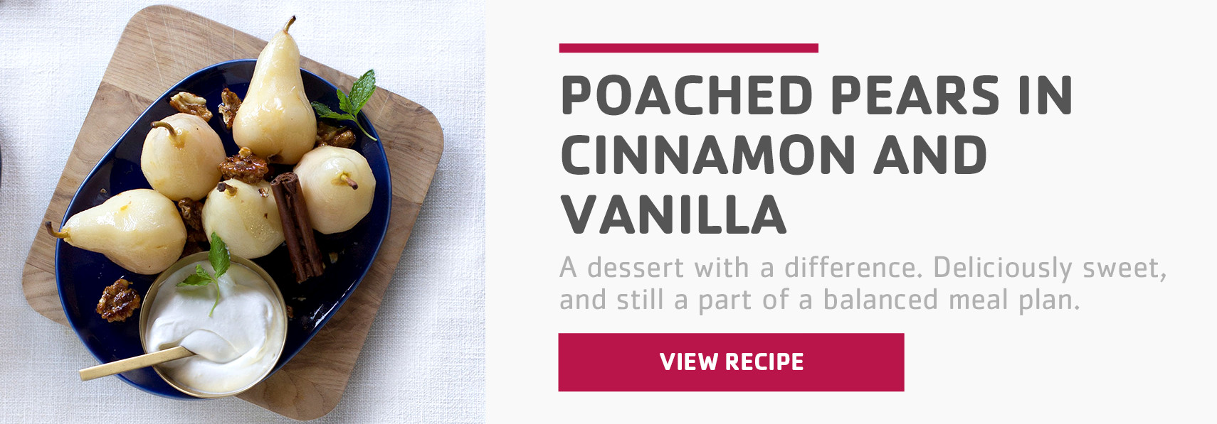 Poached pears in cinnamon and vanilla recipe listing page banner.jpg