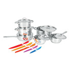 Tissolli 12 Piece Stainless Steel Set with 5 Piece Knife Set