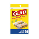 Glad Large Sandwich Bags 170 X 170mm 50