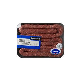 PnP Butchery Grabouw Beef Boerewors  - Avg Weight 460g