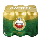 Amstel Lager Cans 440ml x 6