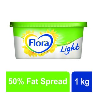 Flora Light Medium Fat Margarine Spread 1kg