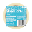 PNP EASY TEAR TAPE CLEAR 3X12MMX65M