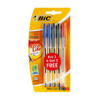 BIC Crystal Medium 3+2 Assorted Pens