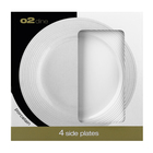 O2 Dine Side Plate White Embossed Swirl