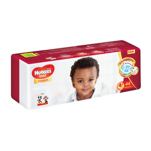 Huggies Gold Unisex Size 4+ 44s