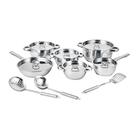 Bekaline By Tissolli Cookware Set 15 Piece Plus 5 Piece Knife Set