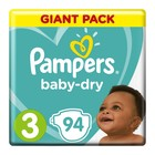 Pampers Baby-Dry Size 3 Giant Pack, 94 Nappies
