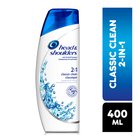 Head & Shoulders Classic Clean 2 in 1 Shampoo 400ml