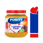 PURITY Jar Vegetables & Beef 125ml from 7 Months