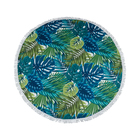 Real Home Beach Towel Round Fringed Jungle 140cm