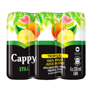 CAPPY FRUIT JUICE TROPICAL 330ML x 6