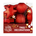 Santa's Village Tree Decoration Red 18 Piece