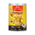 Purina Pamper Beef Cuts in Gravy Tinned Cat Food 385g
