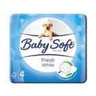 Baby Soft 2 Ply White Toilet P aper 4ea