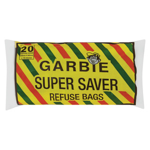 Garbie Super Saver Refuse Bags Black 750mm x 950mm 20s