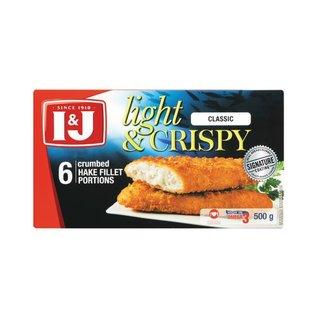 I&J Light & Crispy Classic Hake 500g