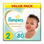 Pampers Premium Care, Size 2 Value Pack, 80 Nappies