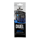 Duel Twin Blade Disposable Razor & Grip 9ea