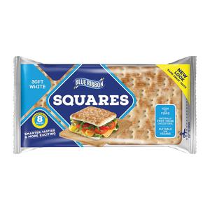 Blue Ribbon Sandwich Squares White 4s