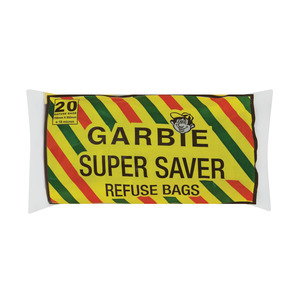 Garbie Super Saver Refuse Bags Black 750mm x 950mm 20s