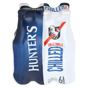 Hunters Chilled Non Alcoholc NRB 330ml x 6